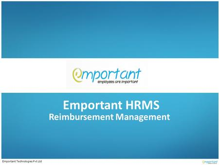Emportant Technologies Pvt Ltd Emportant HRMS Reimbursement Management.