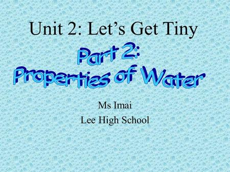 Ms Imai Lee High School Unit 2: Let's Get Tiny. In your notes write a paragraph responding to the prompt below. Warm-Up Do you think these pictures are.