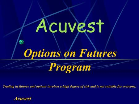 Futures and options online course