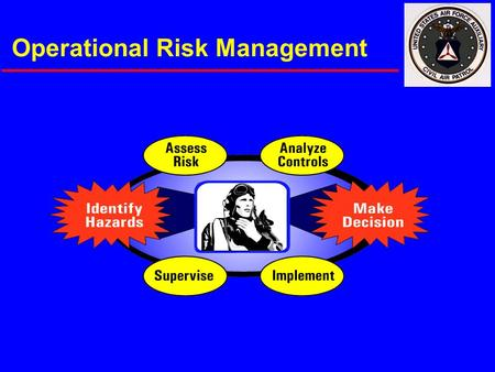 Operational Risk Management. CAP Approach  Top-down leader backing  Decentralized implementation  Moderate implementation tempo  Safety lead role.
