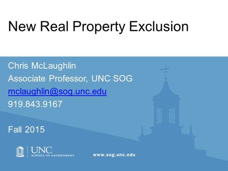 New Real Property Exclusion