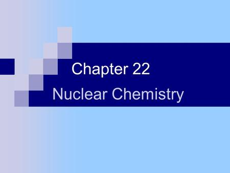 Chapter 22 Nuclear Chemistry. Sect. 22-1: The Nucleus Nucleons – collective name for protons & neutrons Nuclide – an atom Notation: either radium – 228.