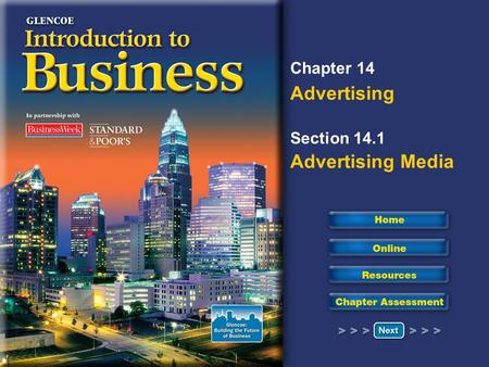 Chapter 14 Advertising Section 14.1 Advertising Media.