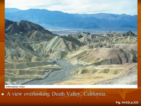 A view overlooking Death Valley, California. A view overlooking Death Valley, California. Fig. 14-CO, p.333.