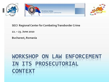 SECI Regional Center for Combating Transborder Crime 22. – 23. June 2010 Bucharest, Romania.
