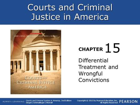 15 Differential Treatment and Wrongful Convictions.