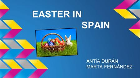 EASTER IN SPAIN ANTÍA DURÁN MARTA FERNÁNDEZ. WHAT IS THE EASTER? For the cristians, the easter, is the holest and oldest tradition. In Spain, we celebrate.