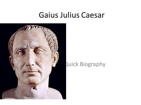 the biography of julius caesar