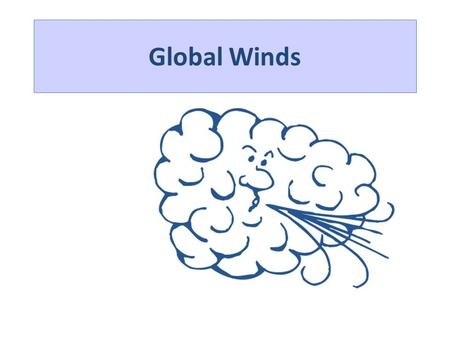 Global Winds. GLOBAL PRESSURE EQUATORIAL LOW POLAR FRONT (LOW PRESSURE) (60°) TROPICAL HIGH (30°) POLAR HIGH Global circulation depends on differential.