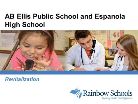 AB Ellis Public School and Espanola High School Revitalization.