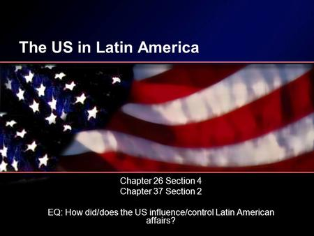 Latin America and the Monroe Doctrine