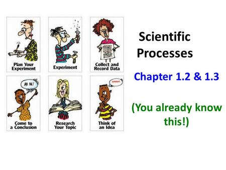 Scientific Processes Chapter 1.2 & 1.3 (You already know this!)