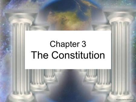 Chapter 3 The Constitution. Common Checks and Balances President recommends legislation to congress Presidential veto Congressional override of veto Senate.
