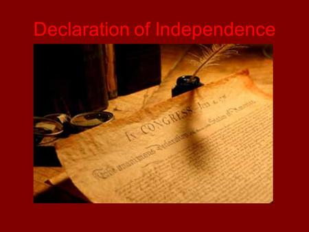 Declaration of Independence. ___ Explain the events and conflicts leading up to the development of the Declaration of Independence ___ Bunker Hill ___.