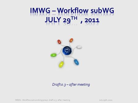 CERN Draft 0.3 – after meeting July 29th, 2011IMWG - Workflow sub working group - draft 0.3 - after meeting.