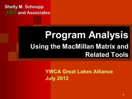 Program Analysis Using the MacMillan Matrix and Related Tools