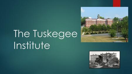 The Tuskegee Institute. Beginnings of the Institute  A young teacher named Booker T. White was asked to teach at the institute  When he arrived, the.