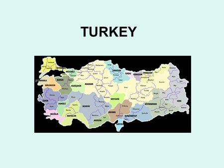 TURKEY. Turkey, known officially as the Republic of Turkey ( Türkiye Cumhuriyeti, is a Eurasian country that stretches across the Anatolian peninsula.