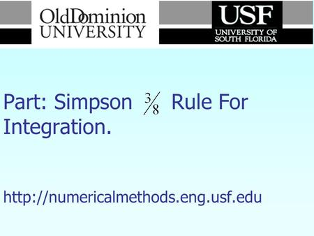 Numerical Methods Part: Simpson Rule For Integration.