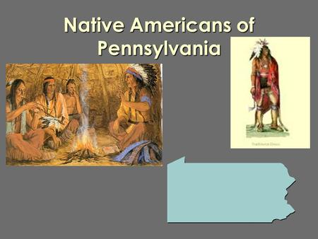 Native Americans of Pennsylvania Algonquian Jerry Hunter, a native of Lac-Simon indian Reservation and wearing Algonquin traditional dresses and paint,