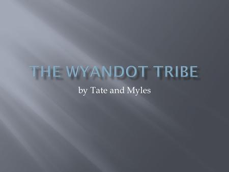 By Tate and Myles.  The Wyandot lived in Kansas and Ohio.
