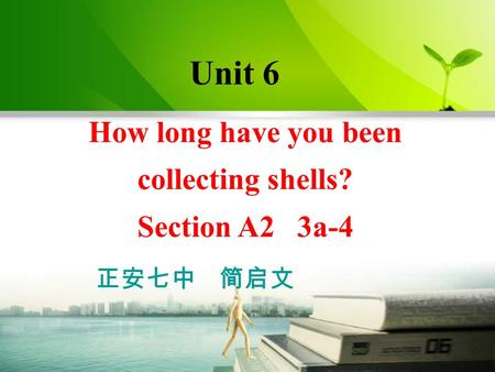 How long have you been collecting shells? Section A2 3a-4 Unit 6 正安七中 简启文.