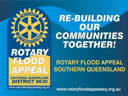 Why re-building our communities together is Rotary's focus It aims to meet local needs identified by the communities, not for the communities. It helps.