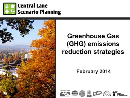 Greenhouse Gas (GHG) emissions reduction strategies February 2014.