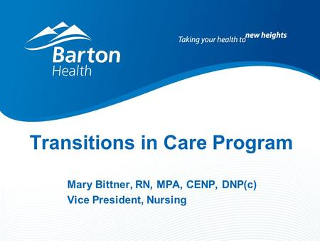 Transitions in Care Program