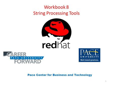 Workbook 8 String Processing <strong>Tools</strong> Pace Center for Business and Technology 1.