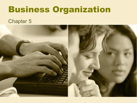 Business Organization Chapter 5. 6 Basic Activities of Business 1.Generate ideas 2.Raise capital (owners equity or loans) 3.Employing & Training personnel.