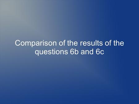 Comparison of the results of the questions 6b and 6c.