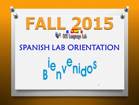 1 SPANISH LAB ORIENTATION. Please double click on the highlighted lab option for proper log in Successfully logged in Total time earned for the current.