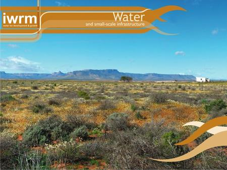 Water and small-scale infrastructure Enver Buckas (eThekwini Metro) IWRM Projects 1.Canal upgrade – Langebome Cederberg 2.Canal upgrade – Beukeskraal.