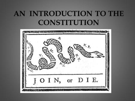 AN INTRODUCTION TO THE CONSTITUTION. Why is the Constitution so Important ??? Laws of the Land Blueprint for how the country functions Controls power.