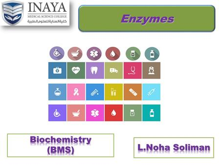 Enzymes Biochemistry (BMS) L.Noha Soliman.