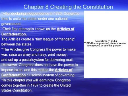 Chapter 8 Creating the Constitution