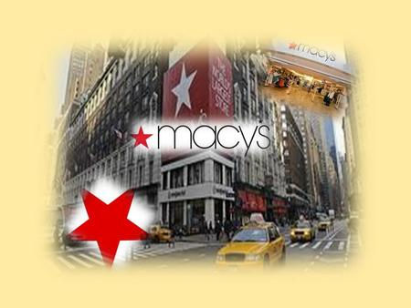 Macy's, established in 1858, is the Great American Department Store - an iconic retailing brand with about 810 stores operating coast-to-coast and online.