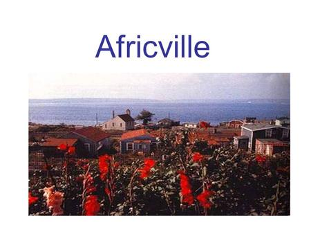 Africville. Instructions: Textbook = Towards Freedom 1.Read pages 120 to 122. 2.Answer questions #1 to 7 on Africville that are located on the hand-out.