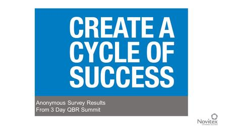 1 Anonymous Survey Results From 3 Day QBR Summit.