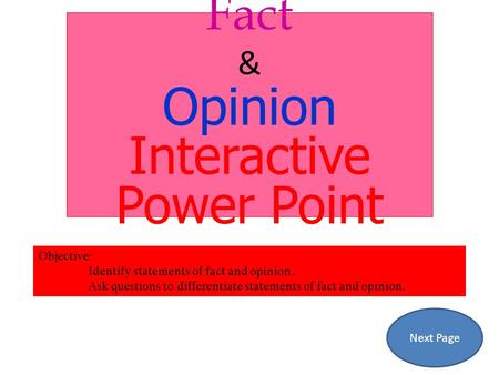 Interactive Power Point