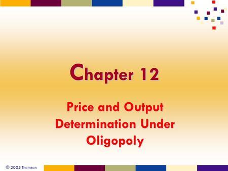 Price Determination under Oligopoly: Non-Collusive and Collusive