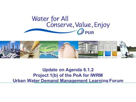 1 Update on Agenda 6.1.2 Project 1(b) of the PoA for IWRM Urban Water Demand Management Learning Forum.