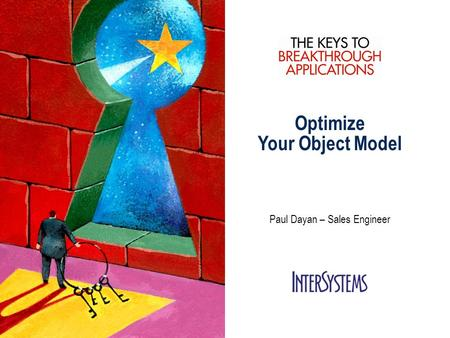 Optimize Your Object Model Paul Dayan – Sales Engineer.
