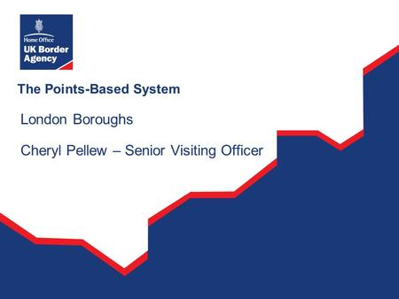 The Points-Based System London Boroughs Cheryl Pellew – Senior Visiting Officer.