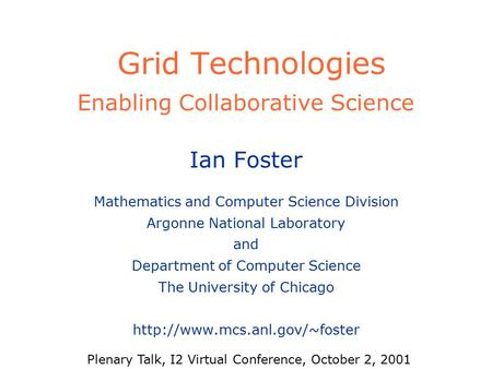 Nsf middleware initiative new features new opportunities - Div computer science ...