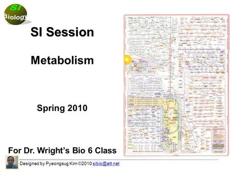 SI Session Metabolism Spring 2010 For Dr. Wright's Bio 6 Class Designed by Pyeongsug Kim ©2010