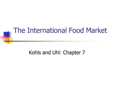 The International Food Market