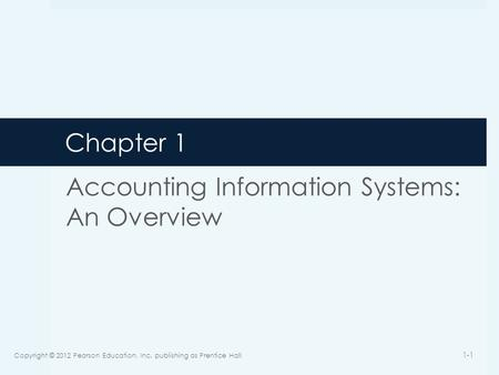 accounting information systems an overview
