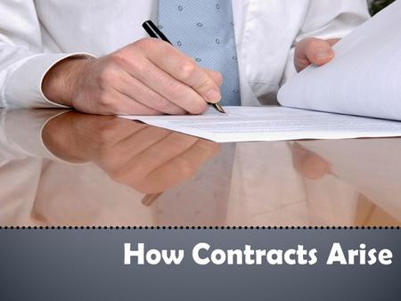  A contract is any agreement enforceable by law.  There are 3 theories behind contract law: 1. Equity Theory of Contract: whether parties to a contract.
